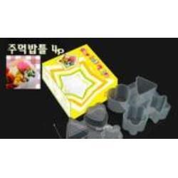 风靡韩国 热销角星心花饭模 饭团模 彩盒装批发采购图片