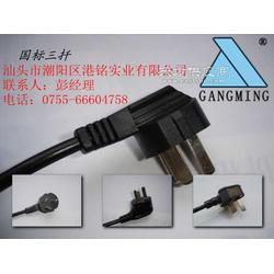 国标电源插头带尾插国标插头品字插头线CCC认证图片
