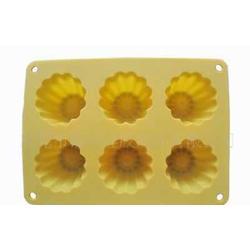 工厂硅胶花形6孔蛋糕模批发采购工厂直接供应图片