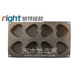 心形硅胶巧克力模-巧克力模具图片