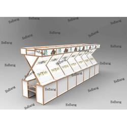 4分方柱展览展示柜-河北展览展示柜-合邦展具图片