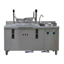 面馆专用自动升降煮面炉、自动升降煮面炉、钜兆电磁炉图片