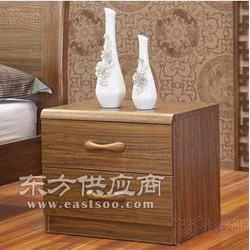 虎斑木床头柜 简约中式床边柜 ?#25191;?#20648;物柜?#30340;?#21351;室家具图片