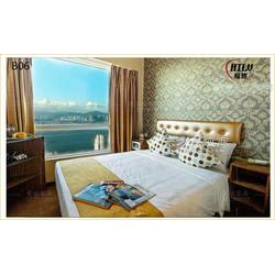 酒店家具快捷宾馆床酒店旅馆宿舍家具简约床头软包靠板床架图片