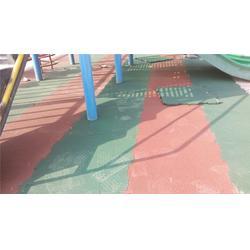 新鲁中塑胶铺设(图)|游泳馆橡胶地砖|橡胶地砖图片