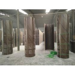 木质圆柱模板,栋航建筑圆模板厂家,木质圆柱模板脱模效果好图片