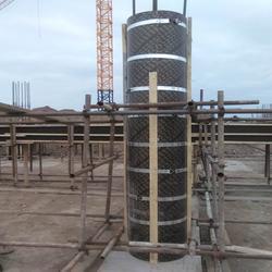木质圆柱模板_木质圆柱模板租赁_栋航建筑圆模板厂家图片