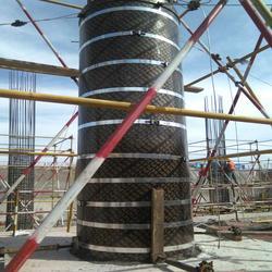 木质建筑圆柱模板租赁|栋航建筑圆模板厂家(咨询)建筑圆柱模板图片