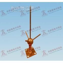 电镀铜三叉球型避雷针生产厂家,电镀铜三叉球型避雷针图图片
