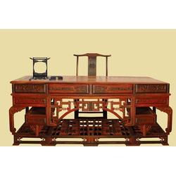 红木办公桌、古典红木办公桌订做价、添姿家具(优质商家)图片