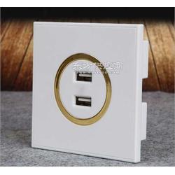 双USB墙壁插座图片