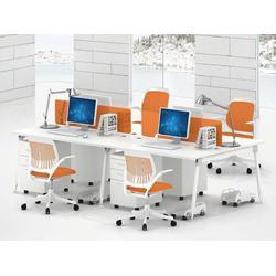 屏风隔断办公桌,华凯办公家具,屏风隔断办公桌 4人图片