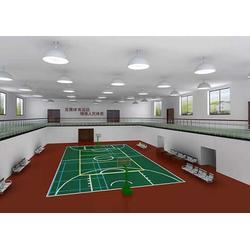 羽毛球场塑胶地板安装、南京雅酷(已认证)、塑胶地板图片