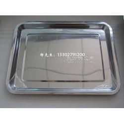 4.8cm高不锈钢方盘 托盘 低价图片