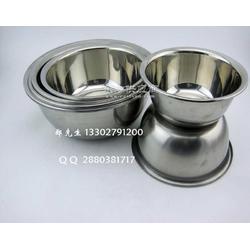 无磁反边不锈钢盆 调料缸味斗图片