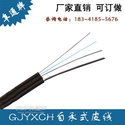 GJYXCH-8B1 8芯钢丝自承式皮线光纤金属加强件钢丝PVC蝶形光缆图片