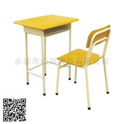 单人课桌椅、山风校具质量可靠、宁波单人课桌椅图片