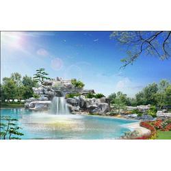 枫叶景观设计 鱼池假山制作-甘肃假山制作图片