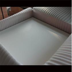 聚四氟乙烯板四氟滑块,四川聚四氟乙烯板,涛鸿耐磨(查看)图片
