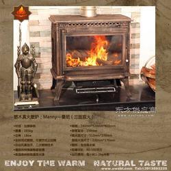 全国销售真火壁炉 大促销 曼尼 真火铸铁壁炉图片