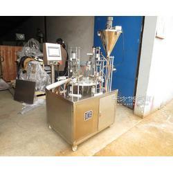 信誉厂家30杯/分复合材料杯子咖啡灌装封口机图片