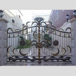 铁艺庭院大门-庭院大门-泰安世通铁艺生产公司图片