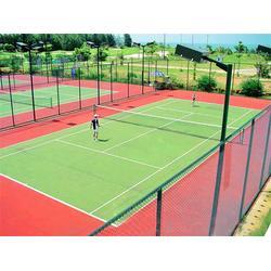 优踏塑胶跑道 硅pu球场地坪施工方案-硅pu球场图片