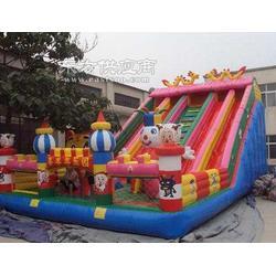 大型 高滑梯 充氣城堡 沖氣跳跳床 公園 廣場 蹦蹦床 兒童樂園圖片