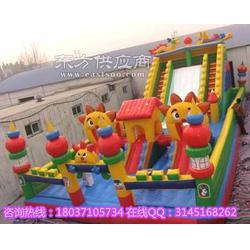 广场 充气城堡 室外大型高滑梯 大型游乐设备 攀岩 儿童游图片