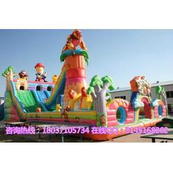 新款现货熊出没大型充气滑梯 广场充气城堡充气蹦蹦床气垫图片
