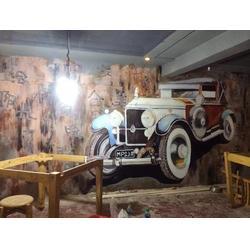 景区人体彩绘-南昌咖啡厅墙绘-景德镇人体彩绘图片