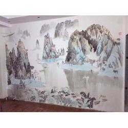 南昌哪有3d彩绘公司、别墅手绘墙、上饶手绘墙图片