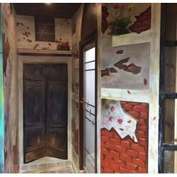 江西墙体彩绘收费标准、墙体彩绘工程、景德镇墙体彩绘图片
