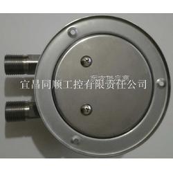 带安装附件的压差表差压表,材质不锈钢,三阀组,五阀组,安装前边,安装后边,安装方式图片