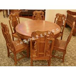 澳科森-实木餐桌-实木餐桌家具厂图片