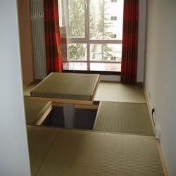 山西日式榻榻米床定做、澳科森实木家具、榻榻米床图片