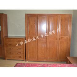 澳科森实木家具(图),三门实木衣柜定制,吕梁实木衣柜图片