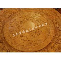 实木餐桌|澳科森|长方形全实木餐桌椅定制图片