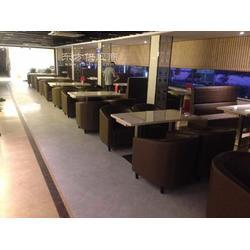 茶餐厅沙发,软包椅子,围椅,茶餐厅家具图片