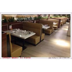 连锁港式休闲餐厅沙发桌椅组合实拍图片