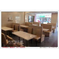 港式休闲餐厅卡座桌椅组合图片