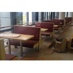 番禺学校食堂卡座桌子组合,番禺区食堂家具图片