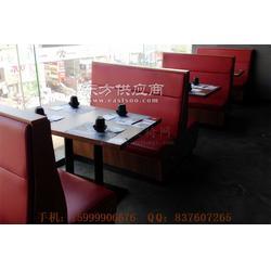惠阳菜馆卡座沙发和桌子定做图片