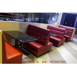 石英石餐桌和超纤皮沙发组合,新圩镇中高档卡座桌子定做图片