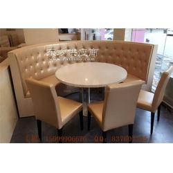 越秀区茶餐厅家具,越秀弧形沙发桌椅图片