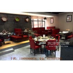 南城区海鲜自助火锅店餐厅卡座桌椅组合图片