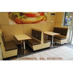 披萨汉堡店板式卡座沙发定做实拍图片