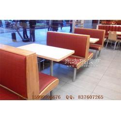 南沙区中式自选快餐厅卡座沙发和桌子定做图片