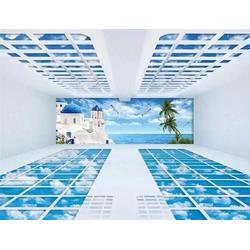 TOE瓷砖、迪拜土豪3D地砖工厂电商中心3D地砖厂家图片