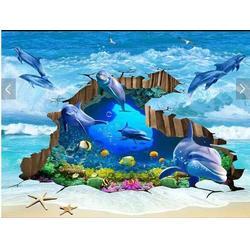 海底世界系列3d砖背景墙厂家 海景3D地、TOE瓷砖图片